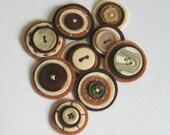 COFFEE BREAK - Button Baubles - Set of 9