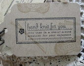 Hand Knit For You Hang Tags