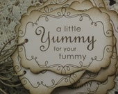 Yummy For Your Tummy Gift Tags Set of Ten
