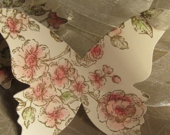 Butterfly Wedding Tree Tags~Vintage Butterfly