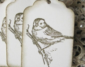 Old Fashioned Bird Hang Tags - Set of Eight