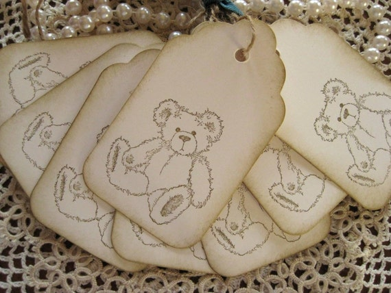 Teddy Bear Gift Tags - Set of Eight