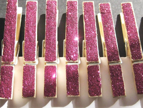 Bright Pink Clothes Pins