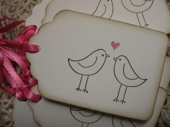 Love Bird Tags - Guest Book Alternative