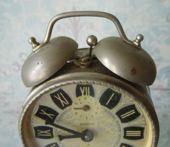 Vintage Saxony Alarm Clock Wind Up Non Working