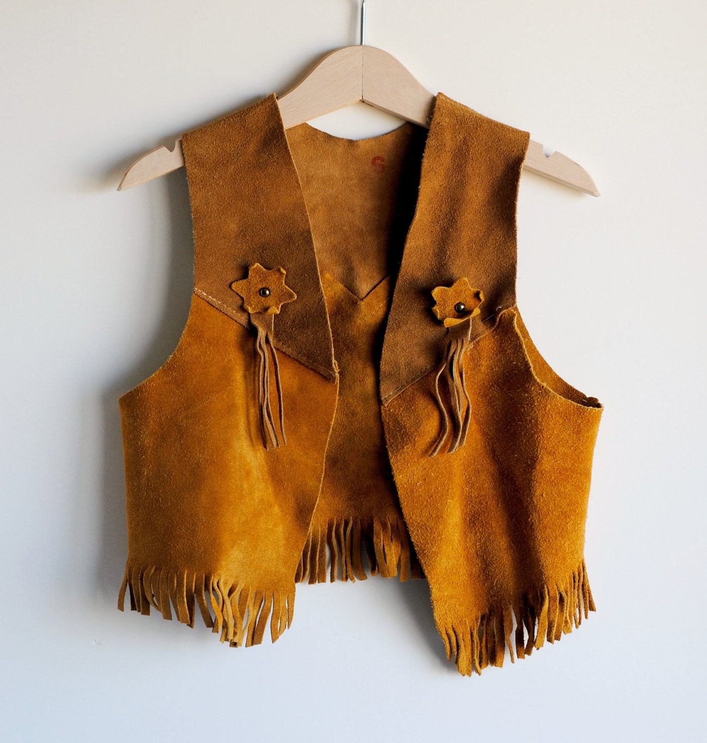 Vintage Toddler Boy Suede Cowboy Vest Small By Hartandsew