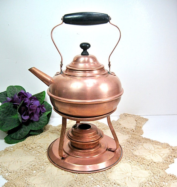 Copper Samovar Teapot Antique 1900s Vintage