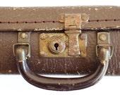Child's antique travel suitcase - enchanting