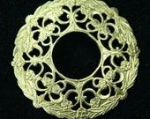 2pcs Filigree Stamping Round Dapt Frame Finding Victorian Baroque Premium Quality Made in USA G6753