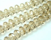 Crystal Rondelle Abacus Beads, 8x5mm  - Champagne - 24pcs