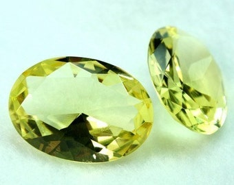 1pc Glass Jewel 25x18mm Oval Faceted Diamond Cut, Pointed Back, Unfoiled - Citrine BY98