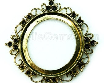 Antique Gold Cameo Frame Setting Victorian Embellish FRM -C6823AG - 4pcs