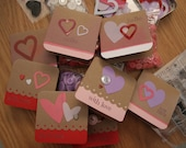 Valentine's Mini Cards Set of 8 with envelopes