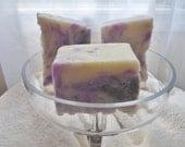 2 bars Soy Dulce Soaps Violet Scent Essential Oil 6 oz. each