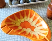 Boomerang Tangy Orange Mid-Century Modern Dish or Ashtray