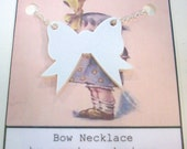Bow Necklace - Laser Cut Acrylic