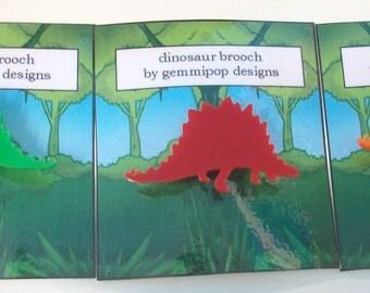 Stegosaurus Brooches - Laser Cut Acrylic