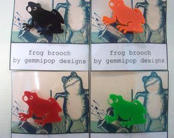 Frog Brooch - Laser Cut Acrylic
