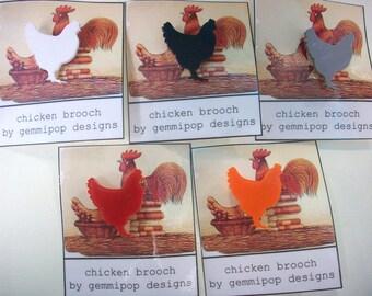 Chicken Brooch - Laser Cut Acrylic