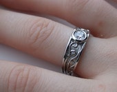 Platinum and Canadian Diamond Vines and Cab Ring