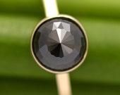 Reserve Listing for tarabrogan - Divine Elegance - 14k Gold and Black Diamond Ring