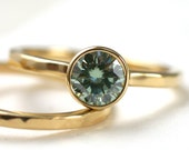 Green Moissanite Facets 6mm Limited Edition
