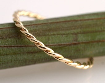 Yellow Gold Twist- 14k band