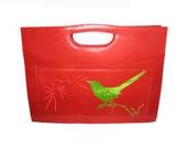 Green Bird Purse