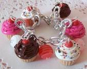 Cupcake Charm Armband