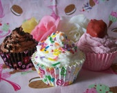 Cupcake Soap - Choose from 3 scents - Vanilla Butter Cream - Chocolate Mousse - Strawberry Shortcake