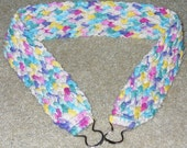 Multiple color wide cotton belt - ready to ship - crocheted