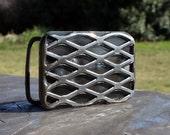 EXPANDED, custom steel belt buckle