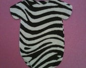 "Baby shower zebra print ""shirt"" paper napkins and banner decoration - use as both"