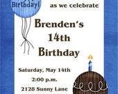 Boy Birthday Cupcake Invitations, Any age