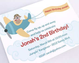 Airplane Birthday Invitations