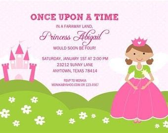 Fairy Princess Birthday Party Invitations