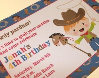 Cowboy Birthday Invitations