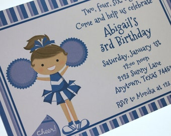 Blue Cheer Birthday Invitations