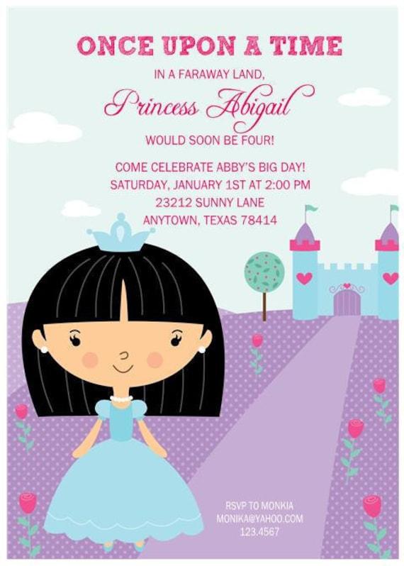 princess birthday party invitations by paper monkey company, Birthday invitations