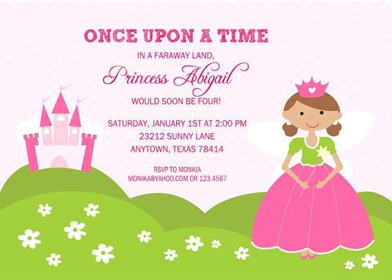 Fairy princess birthday party invitations by paper monkey company il570xn filmwisefo