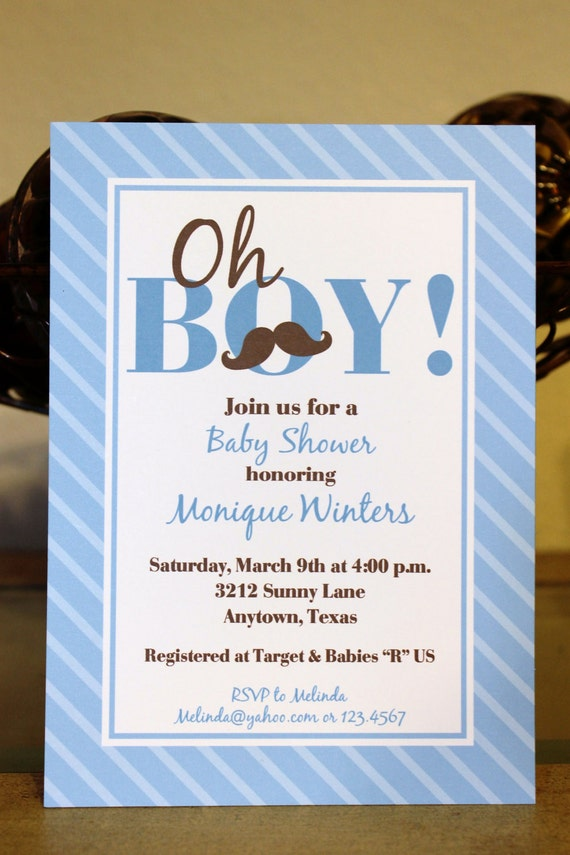 mustache bash custom baby shower invitation by pmcinvitations