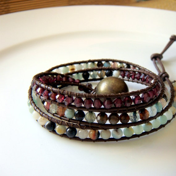 Multi Stone Wrap Bracelet