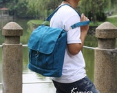 Kinies Back in Teal - Backpack / Rucksack / Satchels / Tote / shoulder bag / Purse / hobo / Men / women / For Her