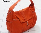 New Year SALE - 20% OFF Mini Classic in Orange / Sling bag / Messenger / Crossbody / Hobo / Handbags / Purses / For Her / Women / Kids