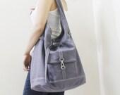 New Year SALE - 20% OFF STARZ in Gray / Handbags / Hobo / Purses / Barrel Bag / Shoulder Bag / Large Bag / Women / For Her / Gift Ideas