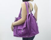 Back To School SALE - 20% OFF EZ in Purple / diapers bag / Shoulder Bag / Handbags / School bag / Purses / tote / women / For Her