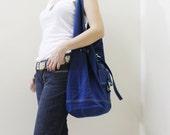New Year SALE - 20% OFF STARZ in Royal Blue / Handbags / Hobo / Purses / Barrel Bag / Shoulder Bag / Large Bag / Women / For Her / Gift