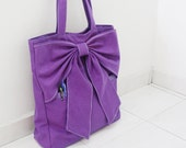 Back To School SALE - 20% OFF QT in Purple / Tote / Shoulder Bag / School bag / laptop / Handbags / Purses / women / For Her / Gift Ideas