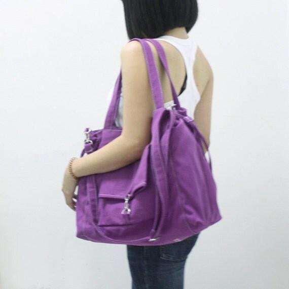 Shoulder Bag, Tote Bag, Laptop bag, Diapers bag, School bag, shopping Bag, Travel Bag, Gift Ideas for Women - EZ in Purple -  SALE 30% OFF