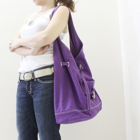 Halloween SALE - 20% OFF STARZ in Purple  / Handbags / Hobo / Barrel Bag / Shoulder Bag / Large Bag / Women / For Her / Gift Ideas